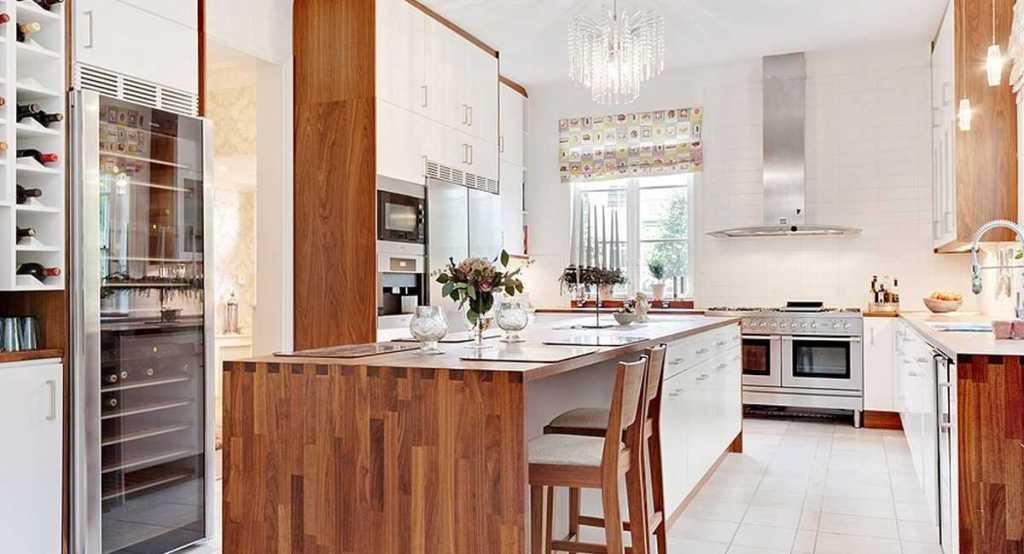 Кухня в скандинавском стиле интерьера